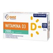 DOZ PRODUCT Witamina D3 2000 j.m., kapsułki miękkie, 120 szt.