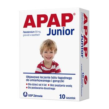 Apap Junior, 250 mg, granulat, 10 saszetek