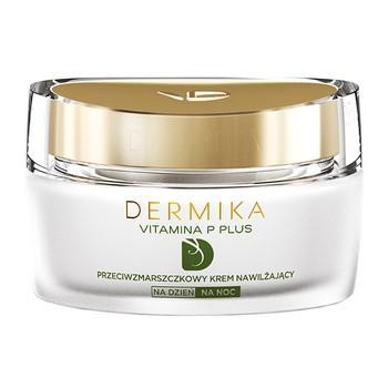 Dermika Vitamina P Plus, nawilżający krem przeciwzmarszczkowy, na dzień/noc, 50 ml