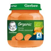 Gerber Organic, przecier dynia słodki ziemniak, 4 m+, 125 g