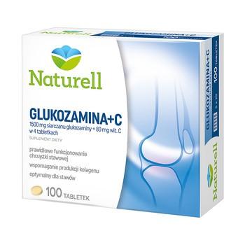 Naturell Glukozamina + C, tabletki, 100 szt.