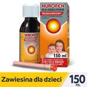 Nurofen dla dzieci Forte truskawkowy, 40mg/ml, zawiesina doustna, 150 ml