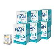 Zestaw 6x Mleko Nan Optipro 5 Junior + NanCare Vitamin D