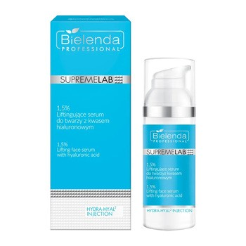 Bielenda Professional SupremeLAB Hydra-Hyal2 Injection 1,5%, liftingujące serum do twarzy z kwasem hialuronowym, 50 g
