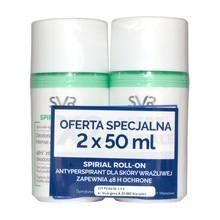 SVR Spirial, antyperspirant roll-on, 2x50 ml