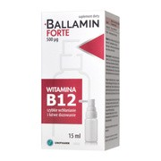 Ballamin Forte, aerozol do stosowania w jamie ustnej, 15 ml