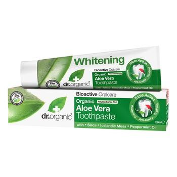 Dr. Organic Aloe Vera, pasta do zębów z aloesem, 100 ml