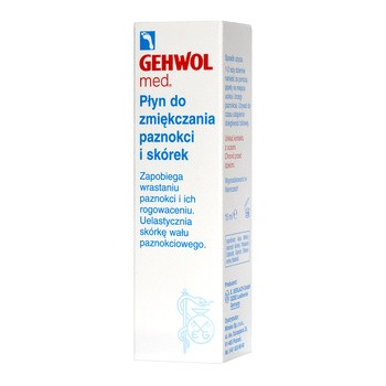 Gehwol med, płyn zmiękczający paznokcie i skórki, 15 ml