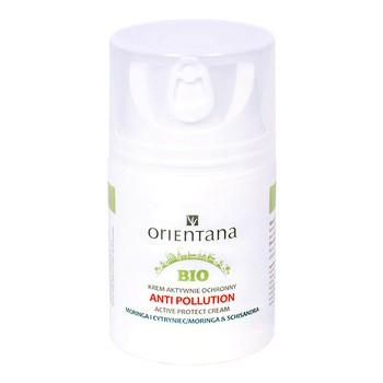 Orientana Bio Anti Pollution, krem aktywnie ochronny, Moringa i Cytryniec, 50 ml