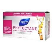 Phytocyane, rewitalizujące serum przeciw wypadaniu włosów u kobiet, 7,5 ml, 12 amp