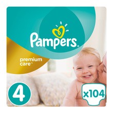 Pampers Premium Care 4, (8-14 kg), 104 szt.