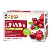DOZ PRODUCT Żurawina, tabletki powlekane, 60 szt.