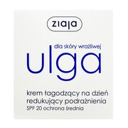 Ziaja Ulga dla skóry wrażliwej, krem łagodzący na dzień redukujący podrażnienia, SPF 20, 50 ml