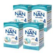 Zestaw 4x Nestle Nan Optipro 4, mleko modyfikowane Junior dla dzieci powyżej 2. roku życia, 800 g