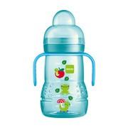 MAM Trainer, butelka treningowa z ustnikiem, 4 m+, niebieska,  220 ml