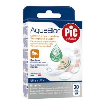 PiC Aquabloc assorted, antybakteryjne plastry opatrunkowe, mix rozmiarów, 20 szt.