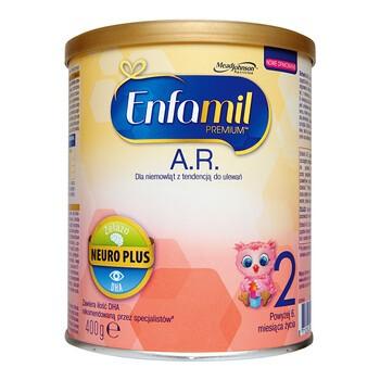 Enfamil Premium A.R. 2, mleko  następne dla niemowląt z tendencją do ulewań, 400 g