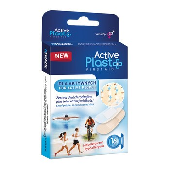Active Plast Dla aktywnych, zestaw plastrów, 16 szt.