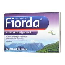 Fiorda, pastylki do ssania o smaku czarnej porzeczki, 30 szt.
