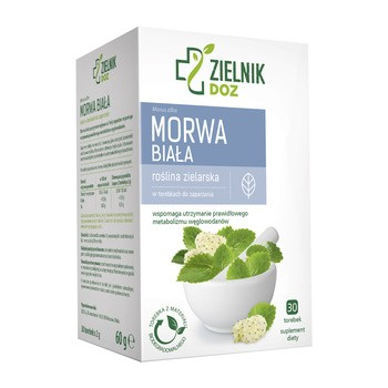 ZIELNIK DOZ Morwa biała, zioła do zaparzania, 2 g, 30 saszetek