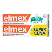Zestaw Promocyjny Elmex Junior, pasta do zębów z aminofluorkiem, dla dzieci 6-12 lat, 2 x 75 ml (dwupak)