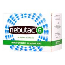 Nebutac 6, roztwór do inhalacji, hipertoniczny 6% NaCl, 4 ml, 30 amp