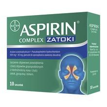 Aspirin Complex Zatoki, 500 mg + 30 mg, granulat w saszetkach, 10 szt.