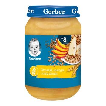 Gerber Deserek gruszki, mango i trzy zboża, 8 m+, 190 g