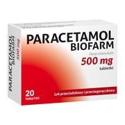 Paracetamol Biofarm, 500 mg, tabletki, 20 szt.