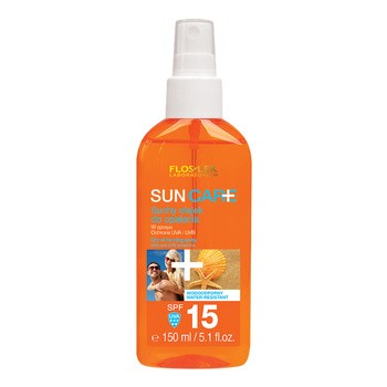 FlosLek Laboratorium Sun Care, suchy olejek do opalania, spray, SPF 15, 150 ml