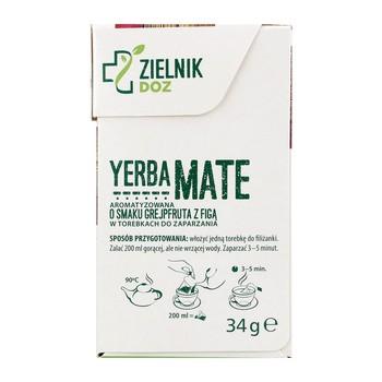 ZIELNIK DOZ, Yerba Mate o smaku grejpfruta z figą, 1,7 g, 20 saszetek