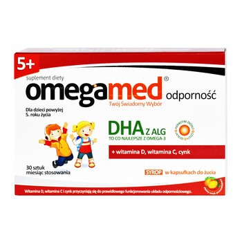 Omegamed Odporność 5+, syrop w kapsułkach do żucia, 30 szt.