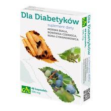 Dla Diabetyków, morwa, borówka, kora cynamonu, 596 mg, kapsułki, 48 szt.