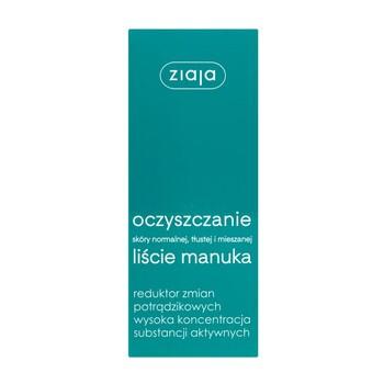 Ziaja Liście Manuka-Oczyszczanie, reduktor zmian potrądzikowych, 15 ml