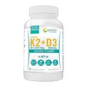 Wish Witamina K2 MK-7 natto + witamina D3 w oleju MCT, kapsułki, 60 szt.