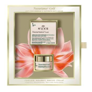 Zestaw Promocyjny Nuxe Nuxuriance Gold, ultraodżywczy olejkowy krem do twarzy, 50 ml + balsam pod oczy, 15 ml GRATIS