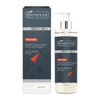 Bielenda Professional SupremeLAB Men Line, głęboko oczyszczający żel do mycia twarzy, 200 g