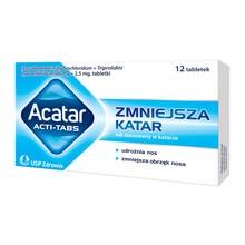 Acatar Acti Tabs, 60 mg + 2,5 mg, tabletki, 12 szt.