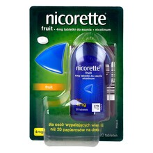 Nicorette Fruit, 4 mg, tabletki do ssania, 20 szt.