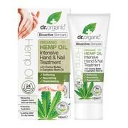 Dr.Organic Hemp Oil, krem do rąk i paznokci  z organicznym olejem z konopi siewnych, 100 ml