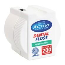 Active, nić dentystyczna, miętowa woskowana, 200 m