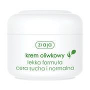 Ziaja, krem oliwkowy, lekka formuła, cera sucha i normalna, 50 ml