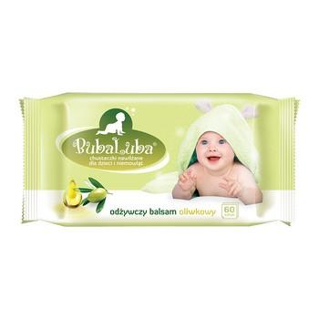 Buba Luba, Nawilżane chusteczki dla dzieci z oliwką, 60 szt