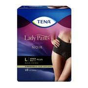 Majtki chłonne TENA Lady Pants Plus Noir OTC Edition, rozmiar L, 8 szt.