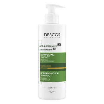 Vichy Dercos, szampon przeciwłupieżowy, włosy suche, 390 ml