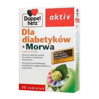 Doppelherz aktiv dla diabetyków+Morwa, tabletki, 30 szt.