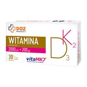 DOZ PRODUCT Witamina D3+K2, kapsułki, 30 szt.