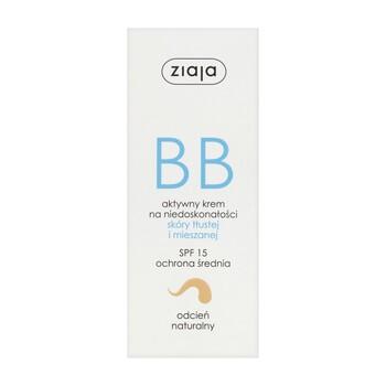 Ziaja BB, aktywny krem na niedoskonałości, skóra tłusta/mieszana, odcień naturalny, 50 ml