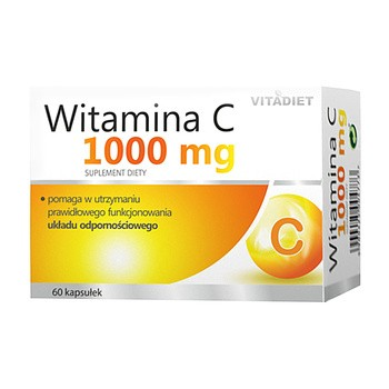 Witamina C 1000 mg, kapsułki twarde, 60 szt.