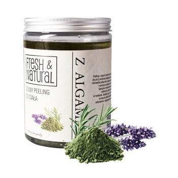 Fresh&Natural, solny peeling do ciała z algami, 1300 g